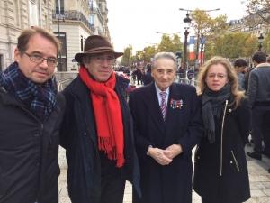 Céline MARTINEZ, Robi MORDER, Georges TERRIER en présence de Charles BERENHOLC - lycéen ayant manifesté le 11 novembre 1940