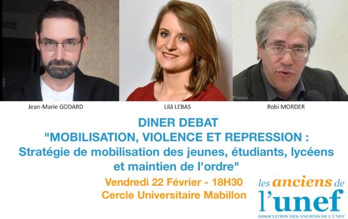 Dîner Débat : Mobilisation Violence Répression