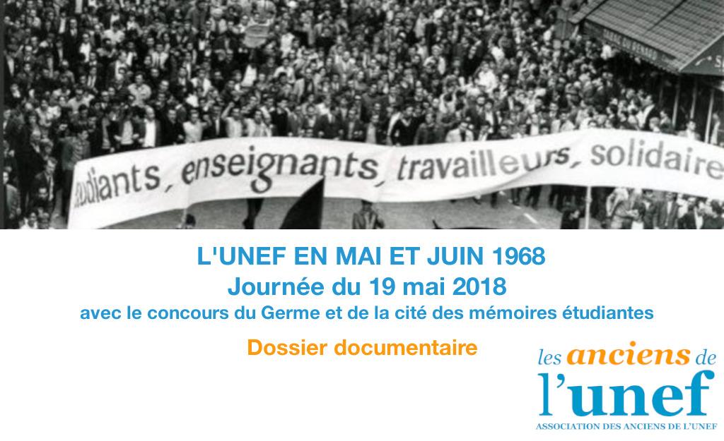 Dossier - L'UNEF en mai et juin 1968